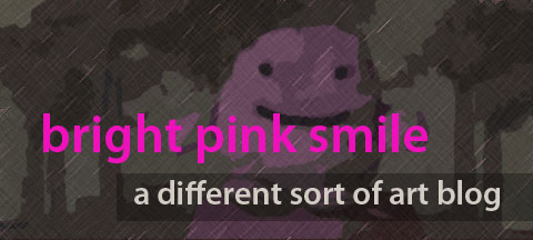 banner for Bright Pink Smile art blog
